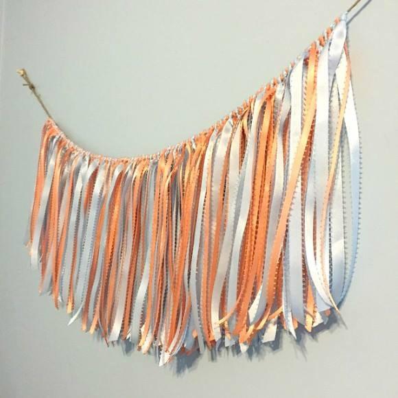 DIY Ribbon Fringe Garland by Dollar Store Crafts