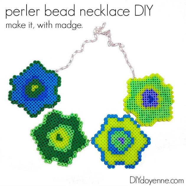 Perler Bead Necklace DIY by DIY Doyenne