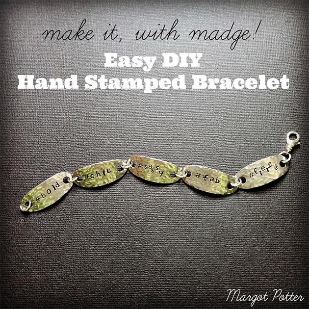 Easy DIY Hand Stamped Bracelet by Margot Potter