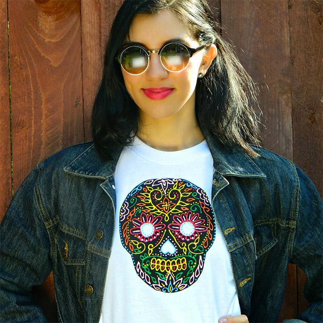 Sugar Skull T-Shirt DIY by Mark Montano