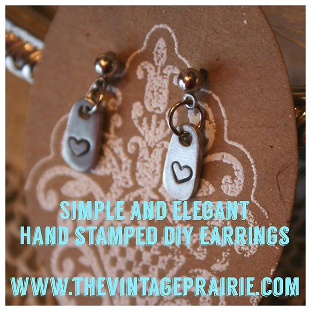 Hand Stamped DIY Earrings by The Vintage Prairie