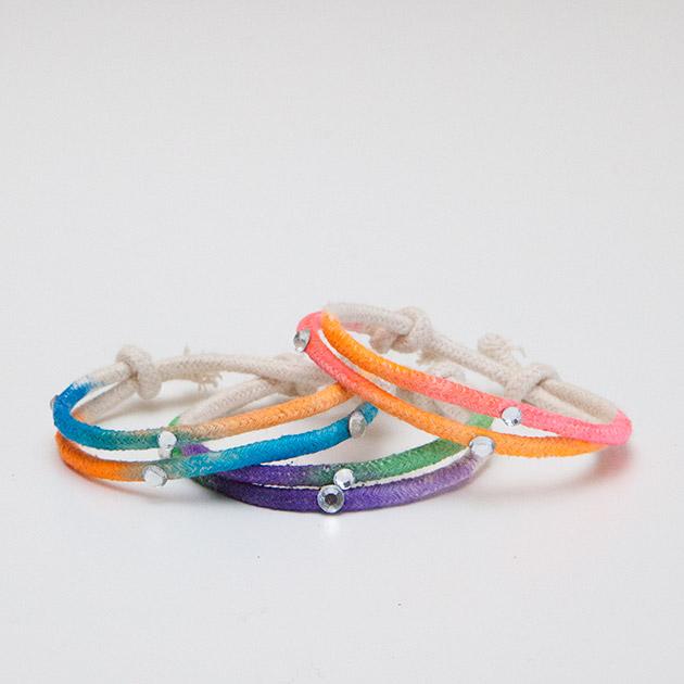 Watercolor DIY Bracelets tutorial