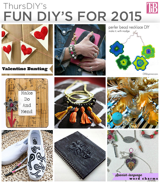 9 Fun DIY's for 2015 by Trinkets in Bloom