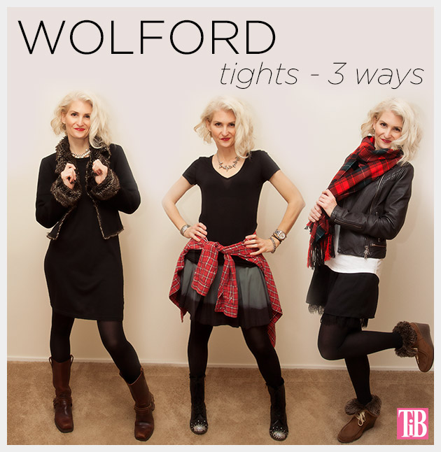 Wolford Tights Worn 3 Ways by Trinkets in Bloom