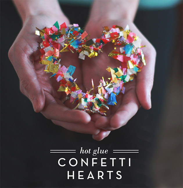 Confetti Hearts by Aunt Peaches