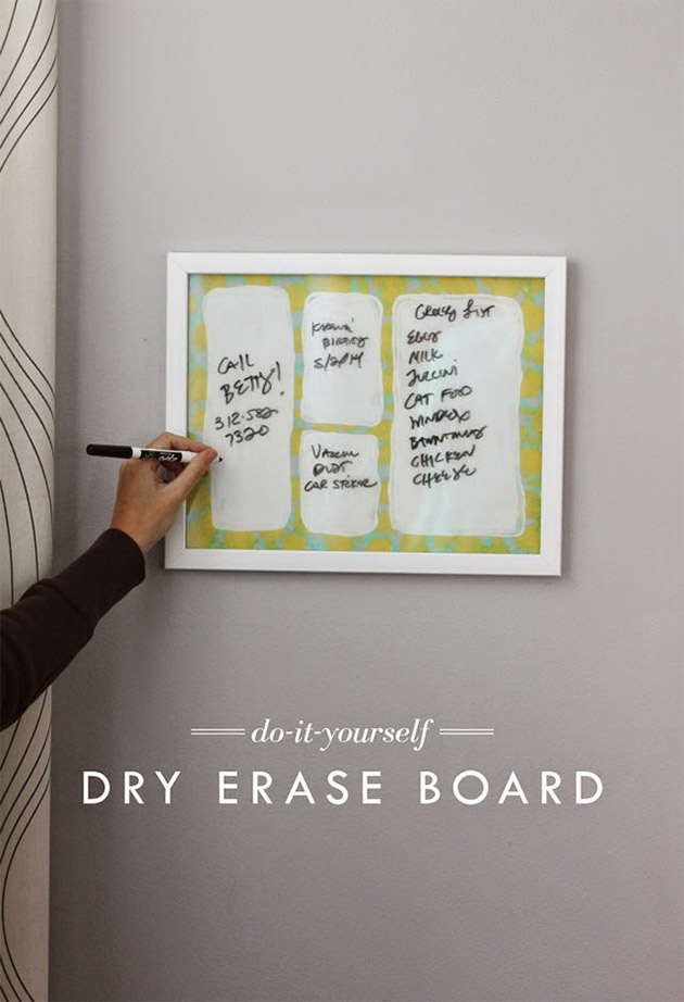 DIY Dry Erase Board by Aunt Peaches