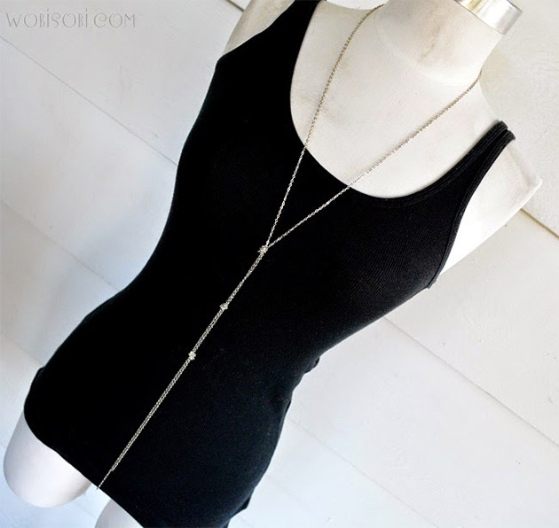 Three Knot Chain Necklace by Wobisobi