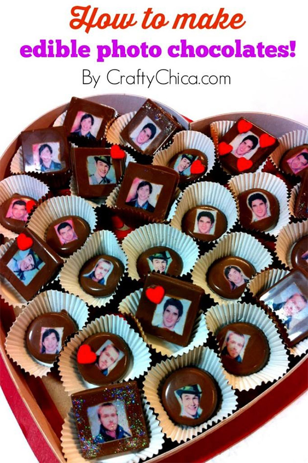 How to Make Edible Photo Chocolates by Crafty Chica