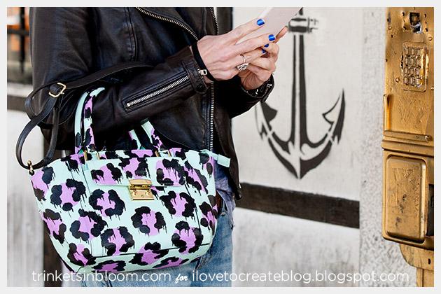 DIY Leopard Painted Bag photo 1 by Trinkets in Bloom