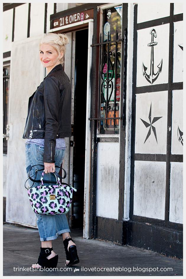 DIY Leopard Painted Bag photo 2 by Trinkets in Bloom