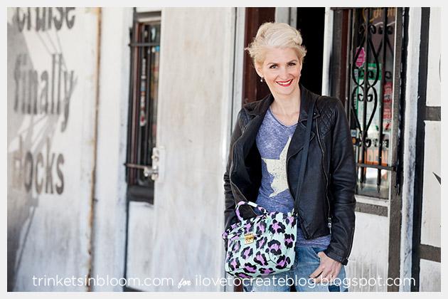 DIY Leopard Painted Bag photo 3 by Trinkets in Bloom