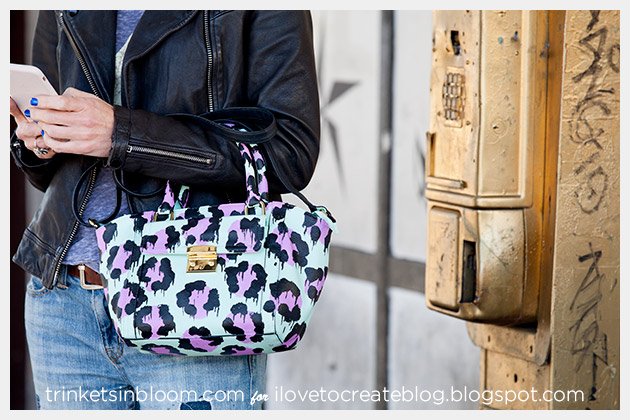 DIY Leopard Painted Bag photo 4 by Trinkets in Bloom