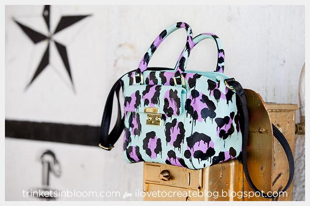 DIY Leopard Painted Bag photo 5 by Trinkets in Bloom