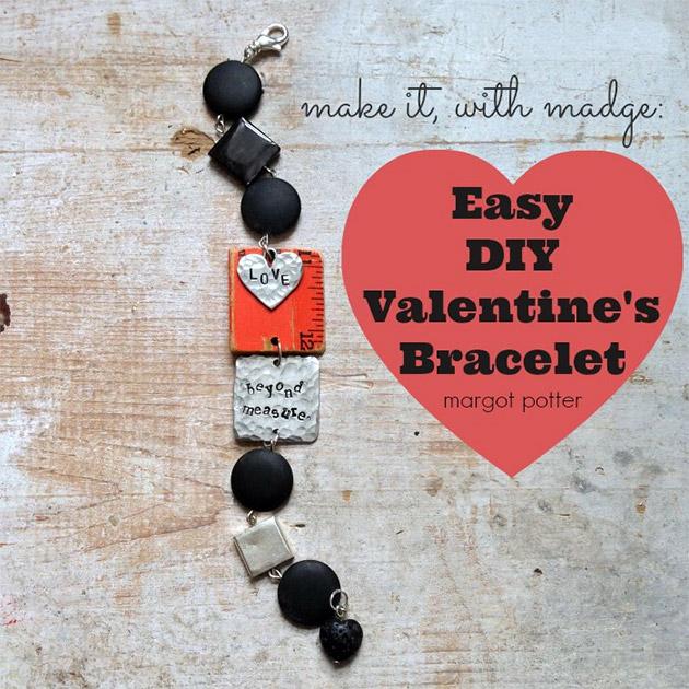Easy DIY Valentine's Bracelet by Margot Potter