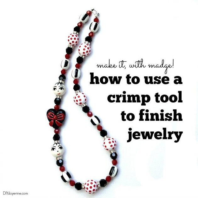 How to use a Crimp Tool by DIYdoyenne