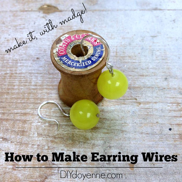 How to make Earring Wires by Margot Potter