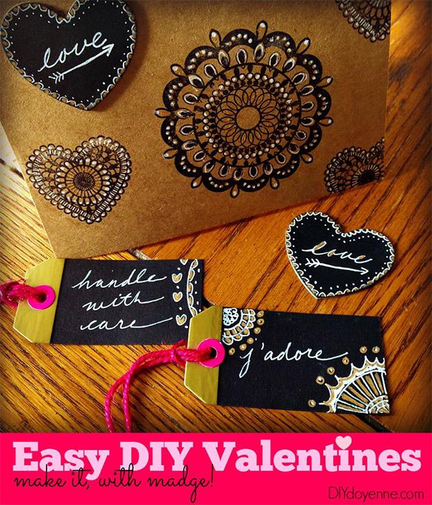 Easy DIY Valentines by Margot Potter