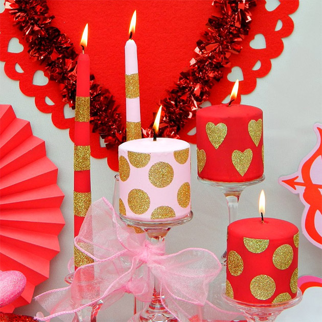 Valentine's Day Candles by Mark Montano