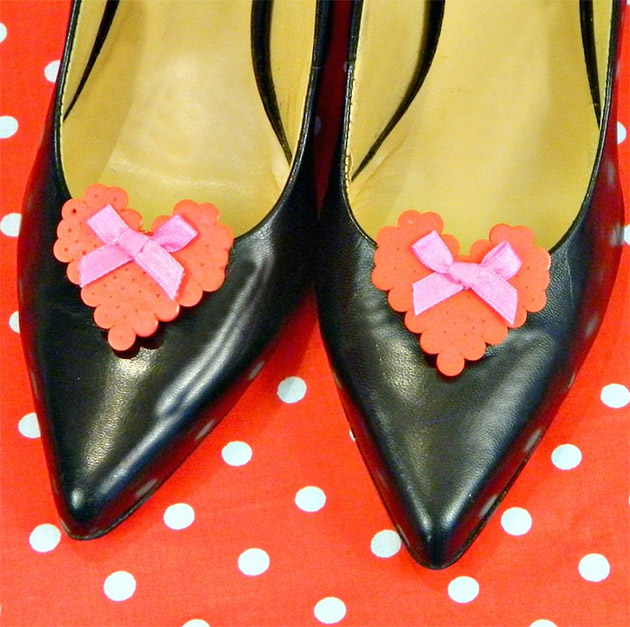 DIY Hearts for your Shoes by Mark Montano
