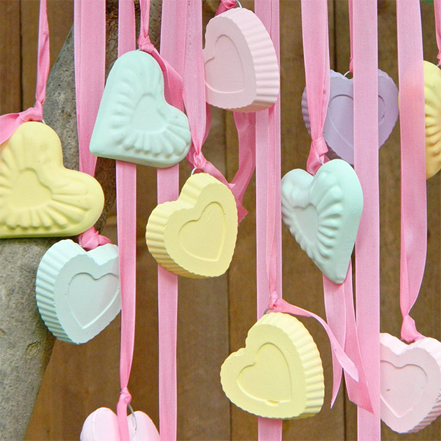 Candy Hearts Wind Chime by Mark Montano