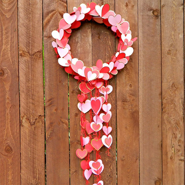 Gilded Hearts Valentine Wreath by Mark Montano