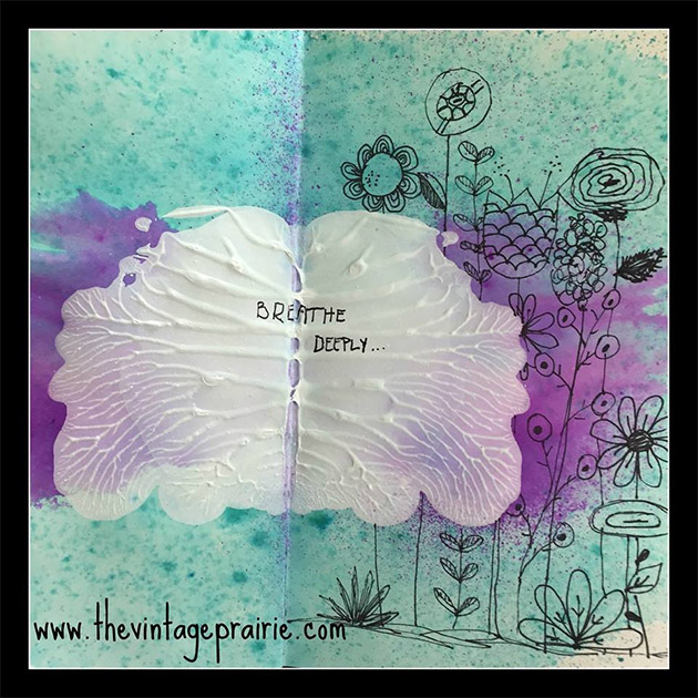 Symmetrical Art Journal Background by Stephenie Hamen