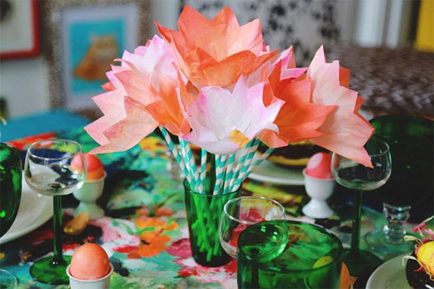 Coffee Filter Tulips by Aunt Peaches