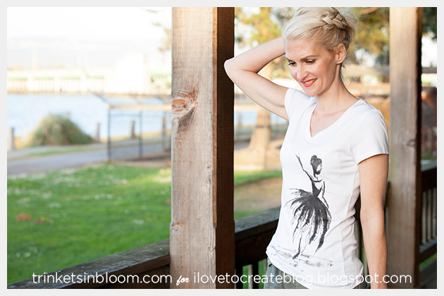 Watercolor Ballerina T-Shirt Photo 1