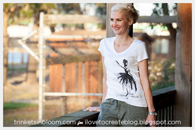 Watercolor Ballerina T-Shirt Photo 2
