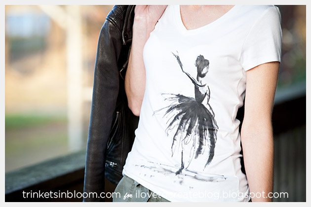 Watercolor Ballerina T-Shirt Photo 3