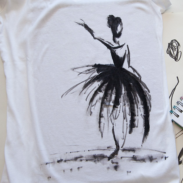 Watercolor Ballerina T-Shirt 630