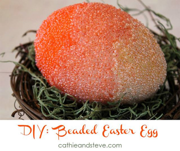 DIY Beaded Easter Egg by Cathie and Steve