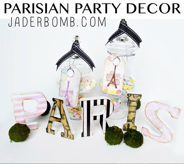 Parisian Party Decor by Jaderbomb