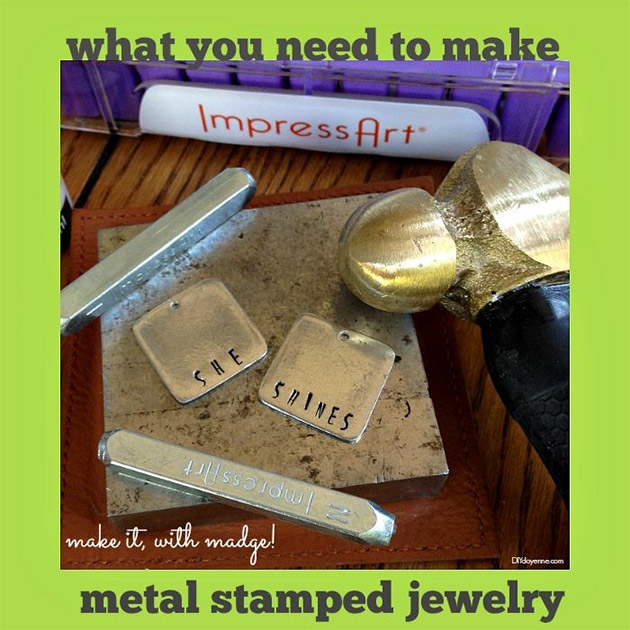 What you need to make metal stamped jewelry by Margot Potter