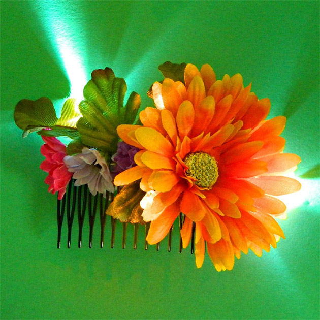 Twinkling Flowers Hair Combs by Mark Montano