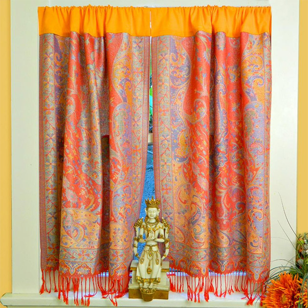 No Sew Boho Curtains by Mark Montano