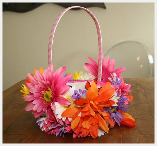Floral Easter Basket by Trinkets in Bloom