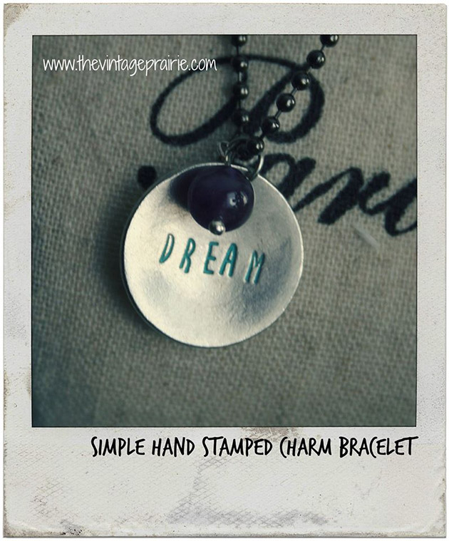 Simpel Hand Stamped Charm Bracelet by Stephenie Hamen