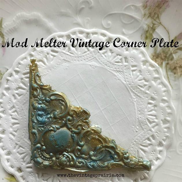 Mod Melter Vintage Corner Plate by Stephenie Hamen