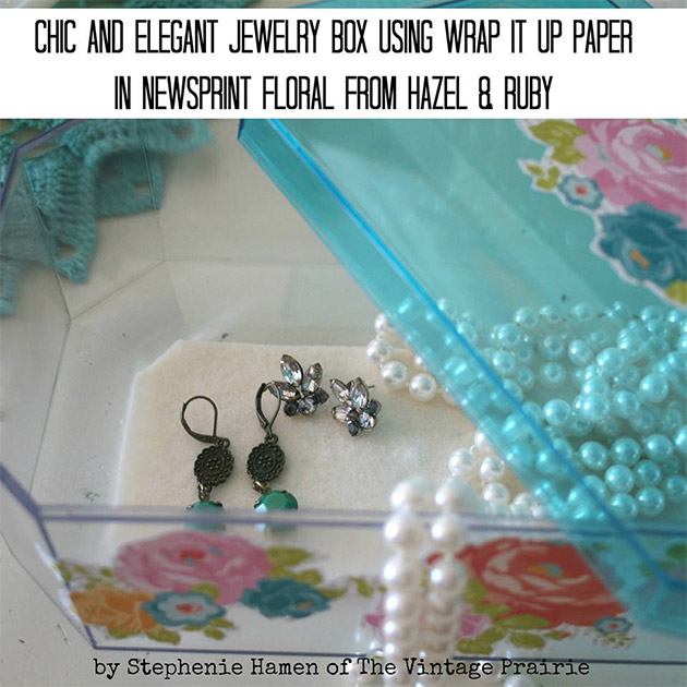 Chic and Elegant Jewelry Box Makeover by Stephenie Hamen