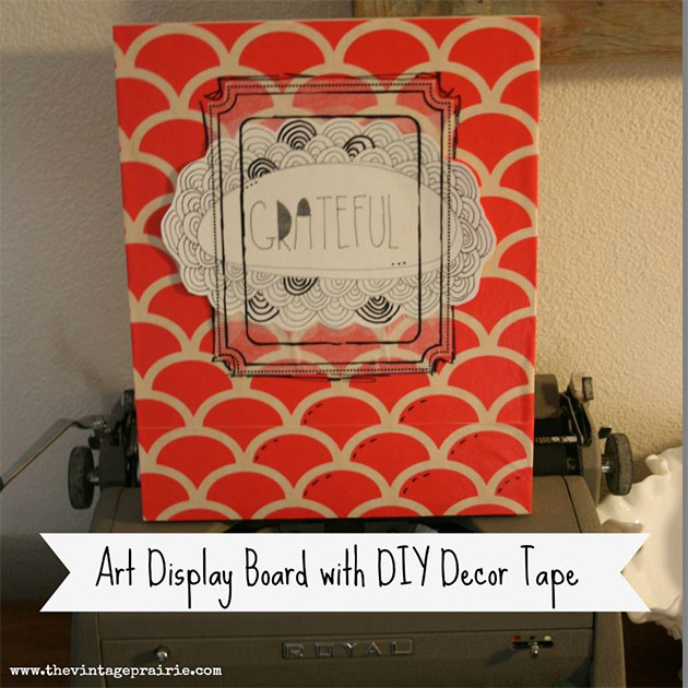Art Display Board with DIY Decor Tape by Stephenie Hamen