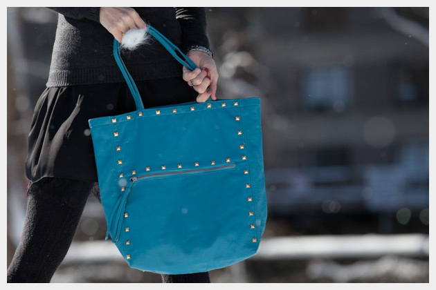Studded Bag DIY by Trinkets in Bloom