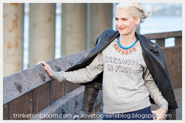 DIY Text Sweatshirt Photo 1 by Trinkets in Bloom