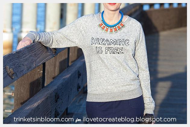 DIY Text Sweatshirt Photo 2 by Trinkets in Bloom