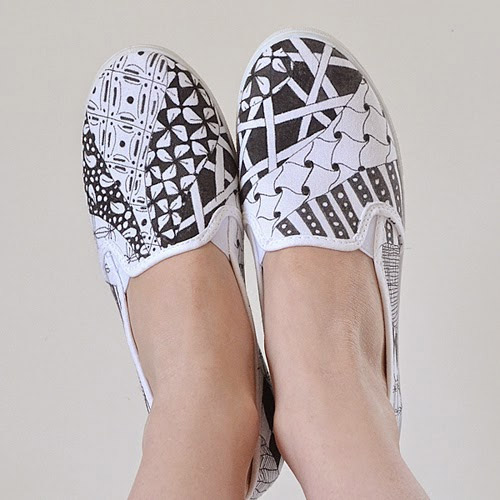 Zentangle Sneakers by Allison Murry for i Love To Create