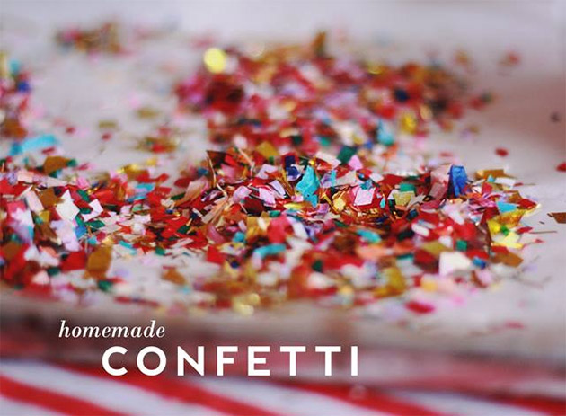 Homemade Confetti by Aunt Peaches
