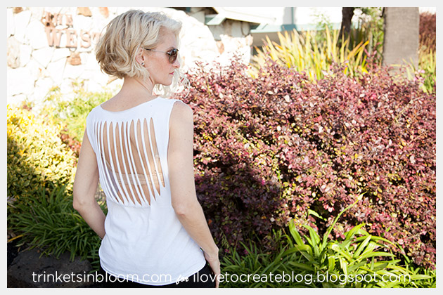 Altered T-Shirt DIY Back Detail by Trinkets in Bloom