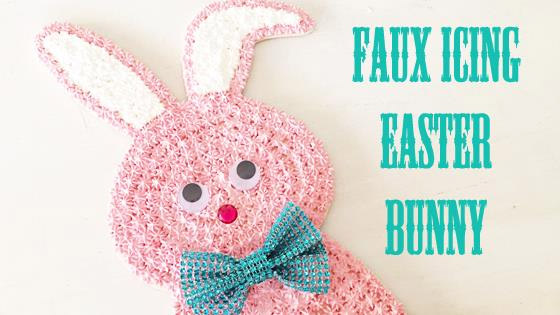 Faux Icing Easter bunny by Cathie and Steve