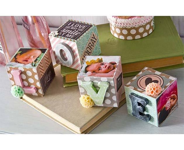Baby Photo Blocks by Cathie Filian