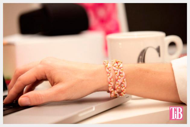 Rhinestone Braided Bracelet by Trinkets in Bloom